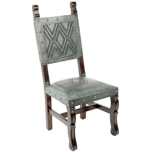 Spanish Heritage Chair - Turquoise