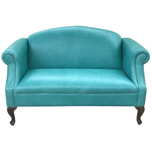 Nuevo Azul Contemporary Leather Settee