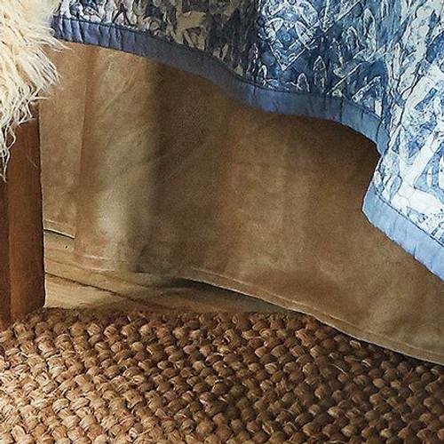 Oatmeal Velvet Bedskirt - Twin