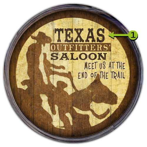 Outfitters Saloon Personalized Barrel End