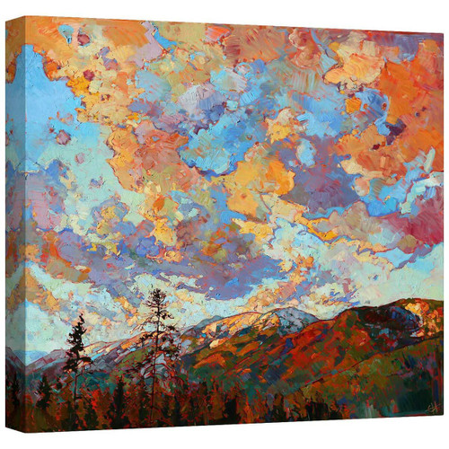 Over the Crest Mirror Wrapped Canvas