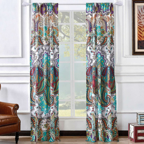 Paisley Brilliance Lined Drapes