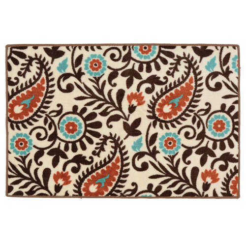 Spiced Paisley Bath/Kitchen Rug - OVERSTOCK