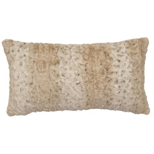 Pearl Leopard Cuddle Fur Rectangle Pillow