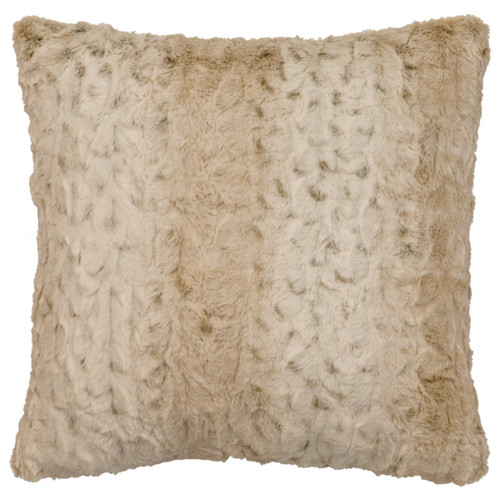 Pearl Leopard Cuddle Fur Square Pillow