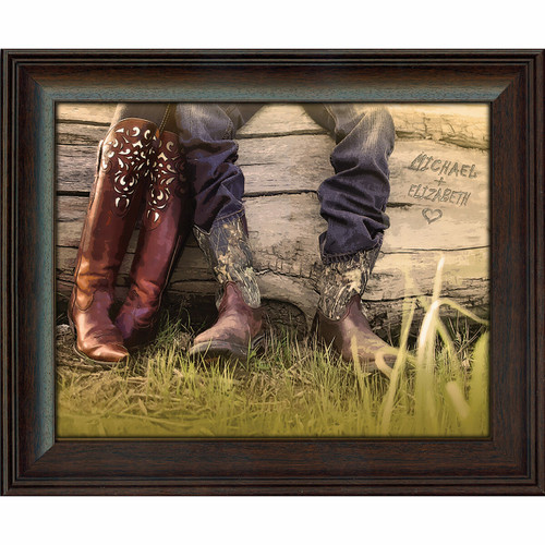 Personalized Boot Love Framed Print