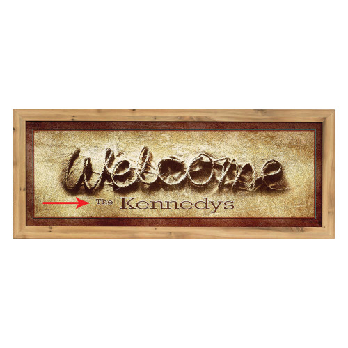 Personalized Welcome Rope Framed Canvas