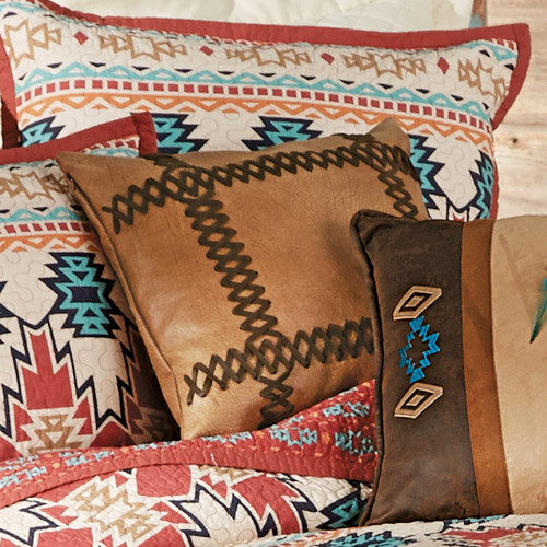 Phoenix Laced Faux Leather Pillow