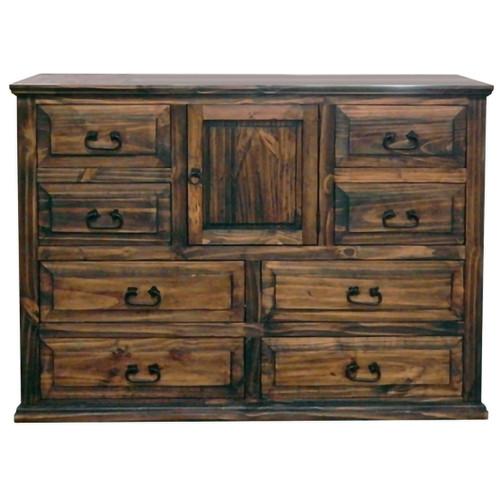 Pine Abode 1 Door Dresser - Natural Dark