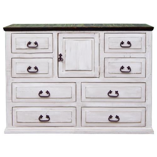 Pine Abode 1 Door Dresser - Weathered White