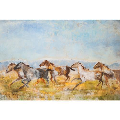 Plains Gallop Canvas Art