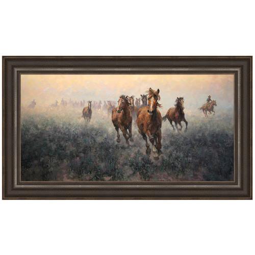 Plains Roundup Canvas Art