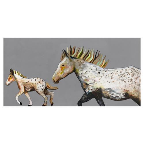 Pony Gallop Canvas Art - 30 x 15