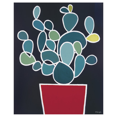 Potted Prickly Pear Canvas Art