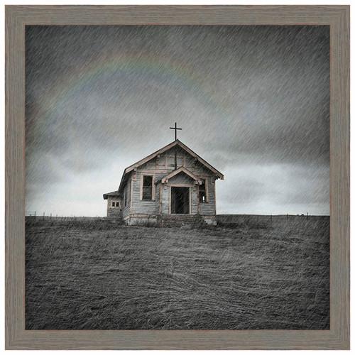 Prairie Church Framed Canvas
