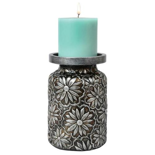 Prairie Flowers Embossed Candle Holder - BACKORDERED UNTIL 11/5/2021