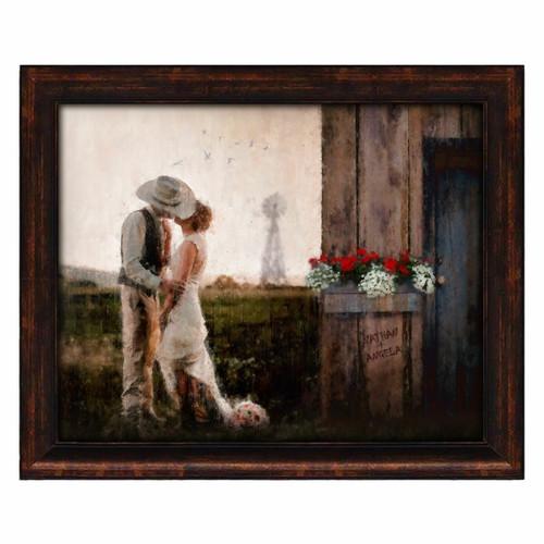 Prairie Romance Framed Canvas Giclee