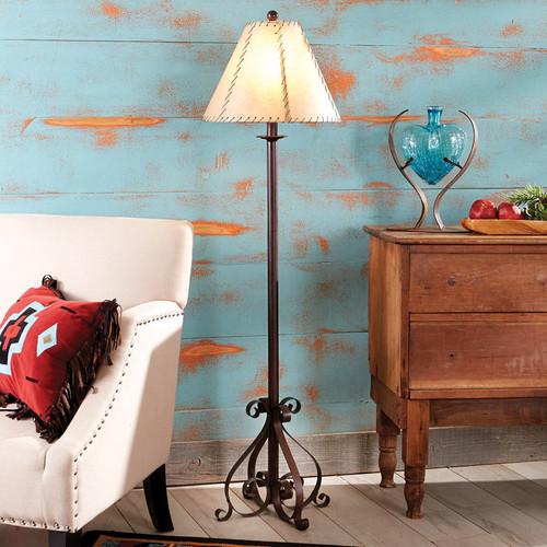 Prairie Scroll Floor Lamp