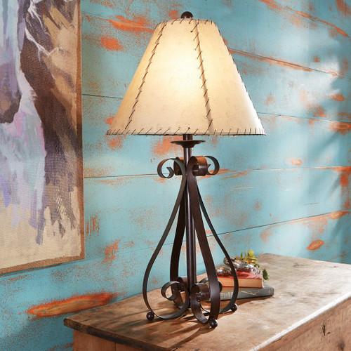 Prairie Scroll Table Lamp - BACKORDERED UNTIL 11/26/2021