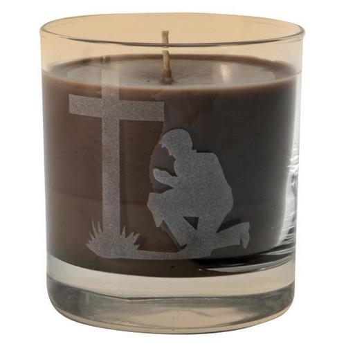 Praying Cowboy Etched Tumbler Candle
