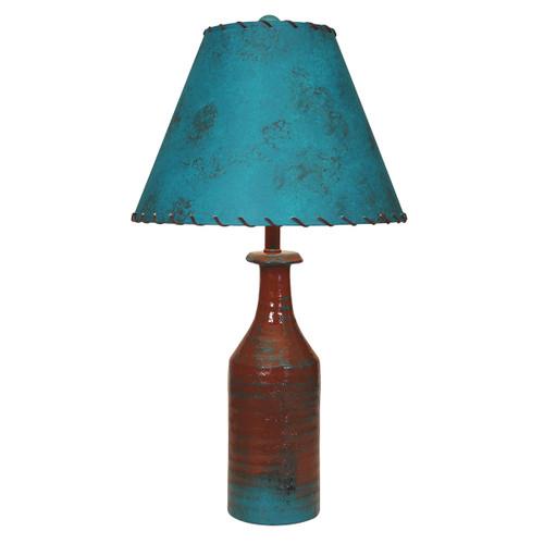 Pueblo Table Lamp with Laced Jade Shade