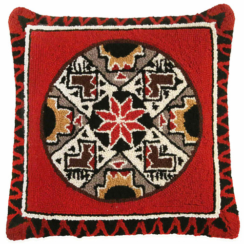 Quill Hooked Wool Pillow