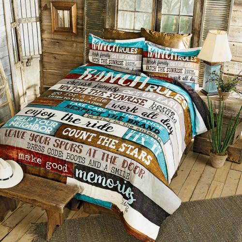 Ranch Commandments Comforter - Queen