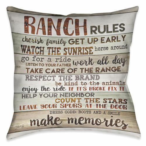 Ranch Commandments Pillow