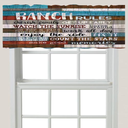 Ranch Commandments Window Valance