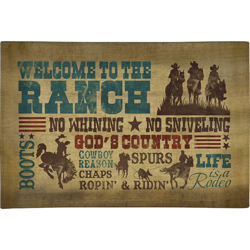 Ranch Rules Chenille Rug - 4 x 6