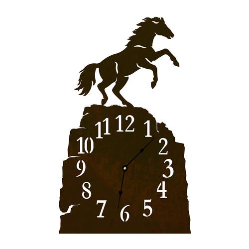 Rearing Horse Table Clock