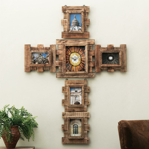 Reclaimed Wood Cross Picture Frame