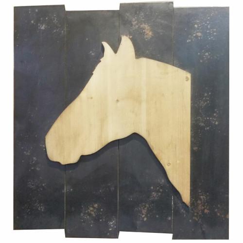 Reclaimed Wood Horse Wall Art