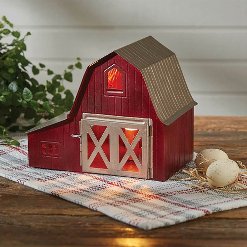 Red Barn Accent Lamp