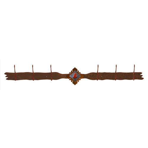 Red Jasper Stone 6 Hook Coat Rack