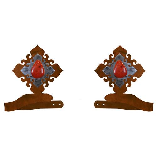 Red Jasper Stone Tie Backs - Set of 2