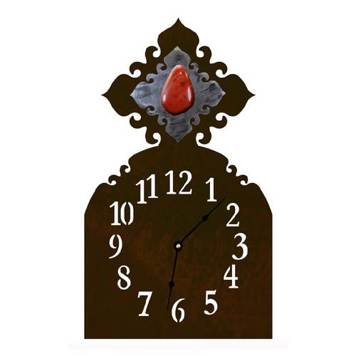 Red Jasper Table Clock