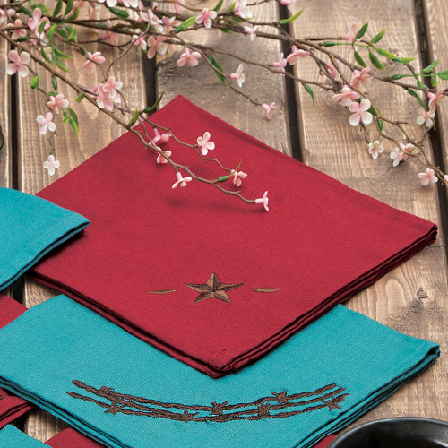 Red Star Napkin Set - 4 pcs