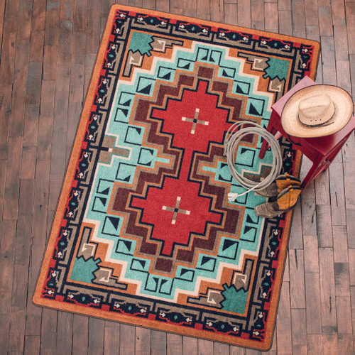Reservations Turquoise Rug - 2 x 8