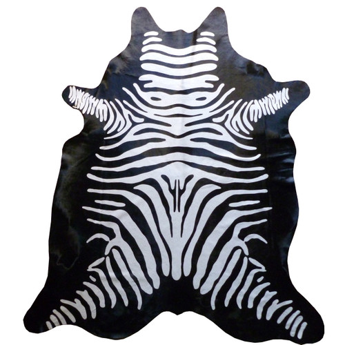 Reverse Zebra Cowhide - Standard