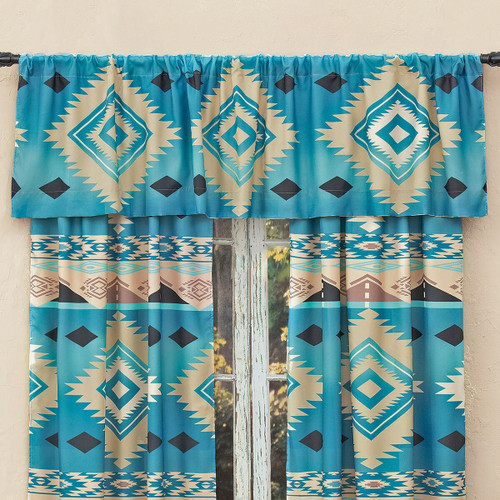 River Frost Lined Valance - CLEARANCE
