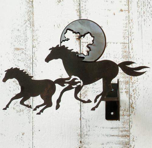 Two Horses Curtain Rod Brackets