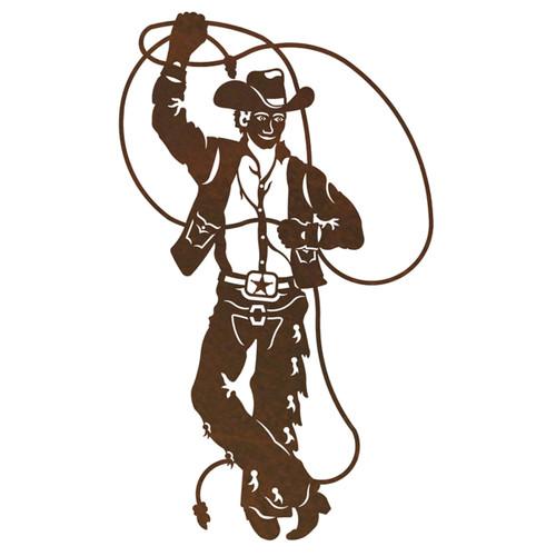 Roping Cowboy Wall Art