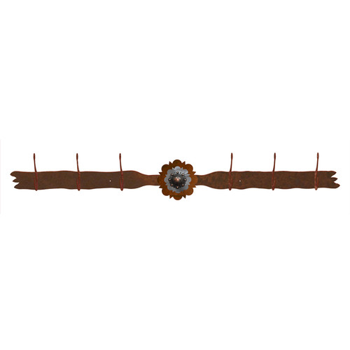 Round Copper Berry Concho 6 Hook Coat Rack