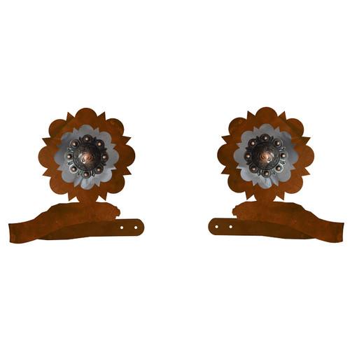Round Copper Concho Tie Backs - Set of 2