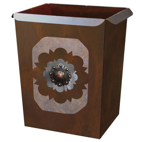 Round Copper Concho Waste Basket
