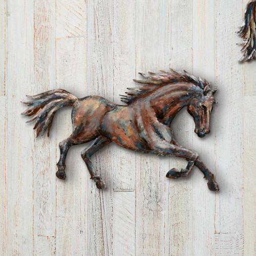 Running Horse 3-D Metal Wall Art III