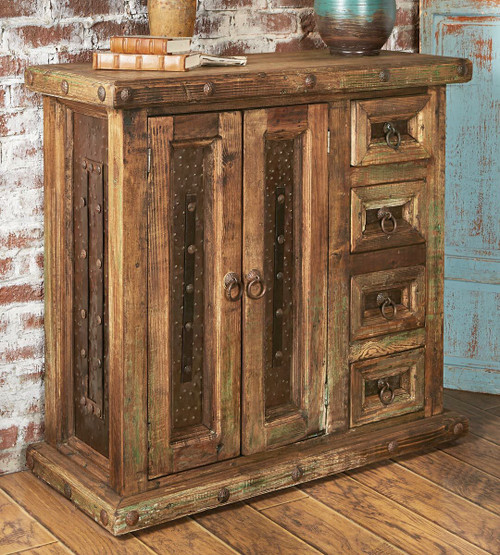Rustic Reclaimed Wood Mini Armoire