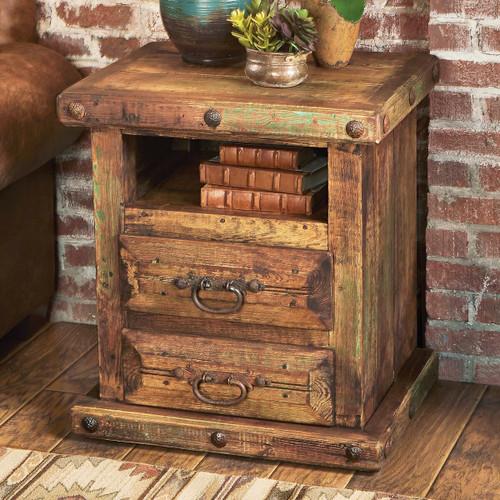 Rustic Reclaimed Wood Nightstand/Table