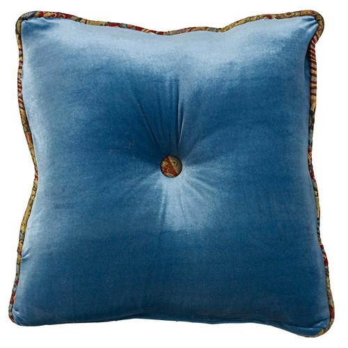 San Angelo Teal Tufted Pillow